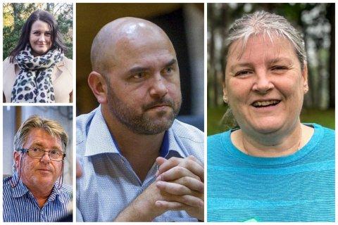 Therese Thorbjørnsen, Tor Egil Brusevold, Linda Engsmyr og Frank Vigart Eriksen er alle utvalgsledere og hever samme lønn for den jobben.