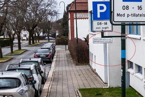 GRATIS: I dag er det gratis for elbiler å parkere i sidegaten til Sarpsborg bibliotek. Den ordningen kan opphøre.