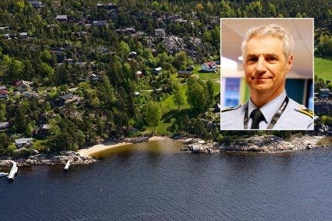 Nærpolitisjef Kjetil Lunde mener hytteeierne i Sarpsborg er flinke til å forholde seg til regelverk.