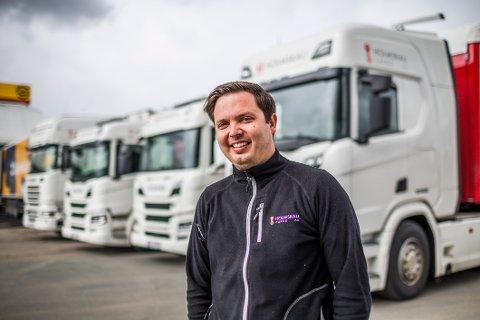 VOKSER: Rene Holmskau (32) og Holmskau Cargo omsatte for 15 millioner i det første driftsåret – som i praksis kun var ni måneder langt. I år håper han på en dobling.