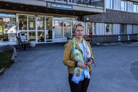 LITE KONTAKT: Anne Britt Reiersen har kun snakket med moren på Kurland sykehjem ved et par anledninger siden besøksforbudet ble innført 12. mars.