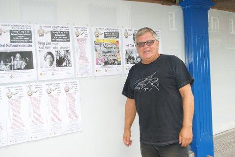 Får for lite: Bjarne Aaserød og Sarpsborg Jazzklubb har fått 75.000 kroner av kommunen. Det mener han er så lite, at de ser seg nødt til å legge høstens konserter på is. Robert Normann-festivalen går som planlagt.