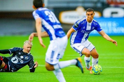 Sarpsborg 08s Mohamed Ofkir i kampen mellom Sarpsborg 08 og Odd.