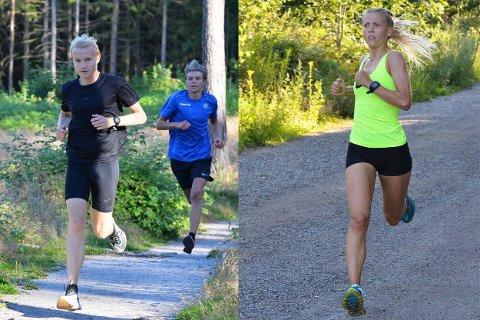 Vinnerne: Vinnerne Even Berntzen Løvås og Camilla Bønøgård under siste torsdagsløpet.