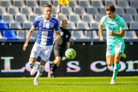 Sarpsborg 08s Joachim Soltvedt får sjansen fra start mot Rosenborg. Her fra en kamp i fjor..  Foto: Thomas Andersen