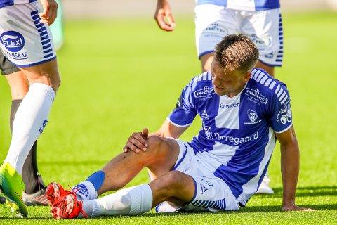 SKADET: Ole Jørgen Halvorsen måtte byttes ut grunnet skade i lørdagens kamp mot Molde.