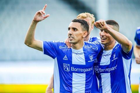 Toppscorer: Mustafa Abdellaoue fikset begge straffene og hjelp Sarpsborg 08 til tre viktige poeng.