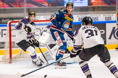 Spartas spiller Emil Lundberg i kampen mellom Sparta og Grüner.