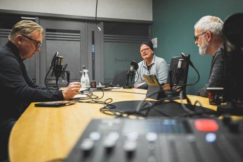 SA-poddens trio med Petter Kalnes, Bjørn Inge «Bingen» Nilsen og Øistein Veberg. Foto: Thomas Andersen