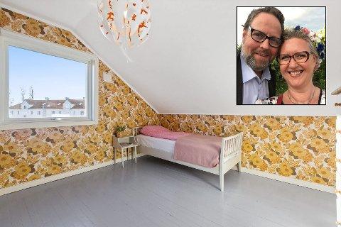 Nina Brataas Rose og Per-Kristian Olsen selger sin retroperle på Kongsten.