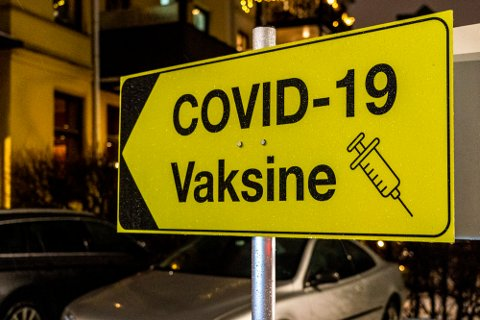 Oslo 20210120.  Bydelene i Oslo har satt opp egne vaksine stasjoner for korona - vaksine. Her fra vaksine - stasjonen ved Lovisenberg sykehus. Foto: Terje Pedersen / NTB