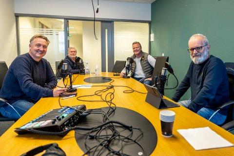 SA-podden med Petter Kalnes (f.v), Svend Rene Nygaard, Bjørn Ingen Nilsen og Øistein Veberg.