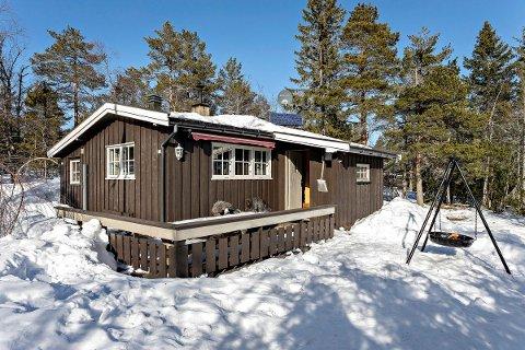 Tom Staavi er nybakt eier av denne hytta i Sauesetra 47. Det visste han lite om at han kom til å bli dagen før budrunden startet.