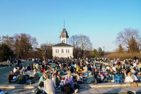 Det var mange som samlet seg i parker i Oslo i helgen.