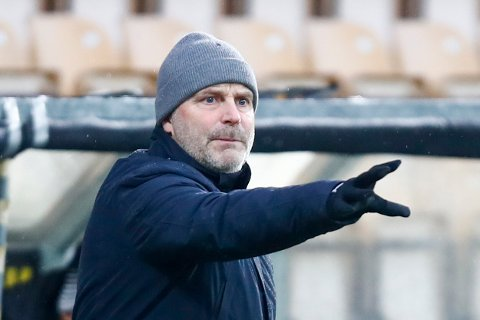 IMPONERTE: Geir Bakkes Lillestrøm var gode i søndagens treningskamp mot Sarpsborg 08.