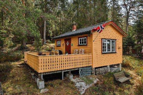 Denne hytta ved Tunevannet er solgt.