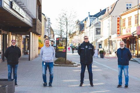 SA-podden med Svend Rene Nygaard (f.v), Petter Kalnes, Bjørn Inge Nilsen og Øistein Veberg.