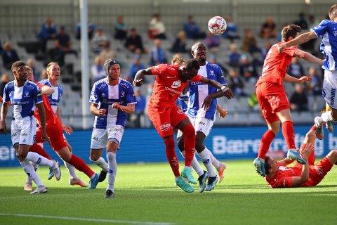 Det endte 0-0 mellom Sarpsborg 08 og Brann på Sarpsborg stadion søndag kveld. (Foto: Thomas Andersen)