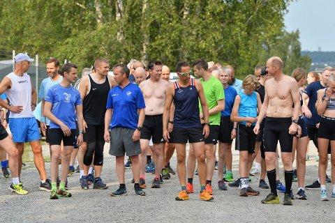 MANGE: Det var mange deltakere i Torsdagsløpet også denne uken.