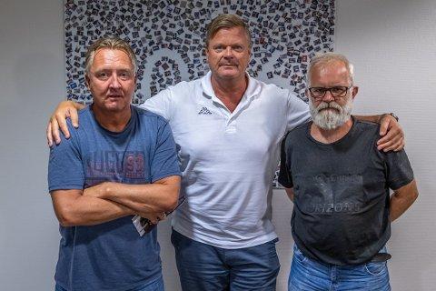 """Petter Kalnes (f.v), Bjørn Inge """"Bingen"""" Nilsen og Øistein Veberg har spilt inn en ny podkast etter kampen mot Lillestrøm."""