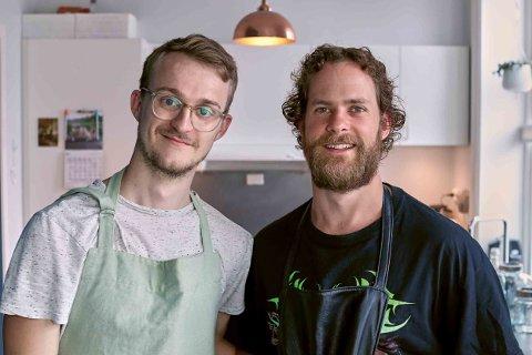 August Borgås og Martin Bryn står bak Norges mest populære matkanal på TikTok.