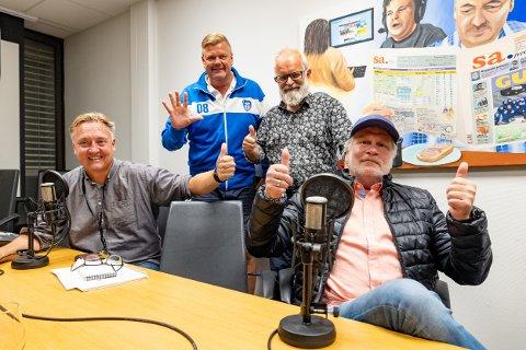 Petter Kalnes (f.v), Bjørn Inge «Bingen» Nilsen, Øistein Veberg og Svend René Nygaard kunne smile etter kampen mot Sandefjord.