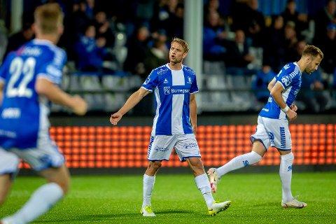 SCORING: Ole Jørgen Halvorsen scoret ett flott mål da Sarpsborg 08 tapte 1-2 mot Rosenborg søndag.