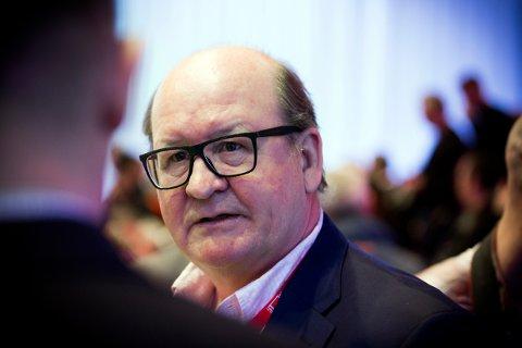 Leder av NTL, John Leirvaag.