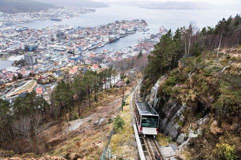 Fløibanen i Bergen.
