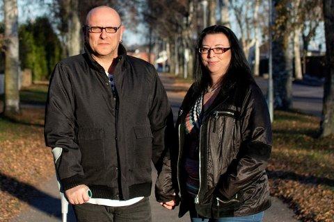 Henrik Hansen og Toya Irene Tønnesen vil vise politikerne hva som er konsekvensene av innstrammingene i AAP-regelverket.