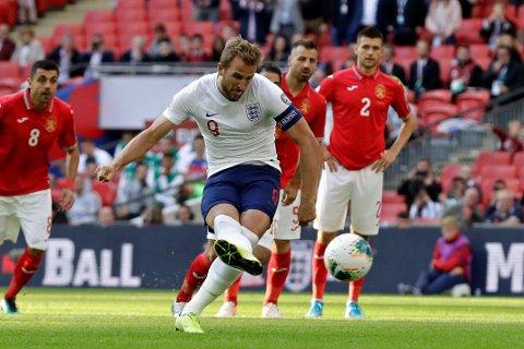 Harry Kane scoret tre av målene da England slo Bulgaria 4-0 på Wembley lørdag.
