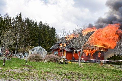 Brann i bolighus Rødenes Marker