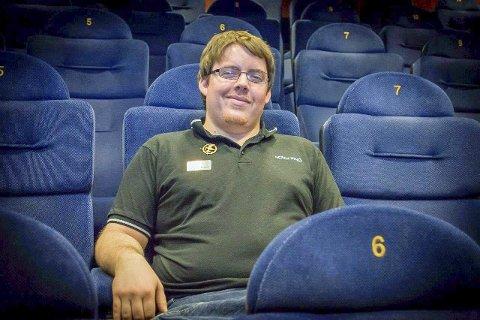 KLAR FOR DET NYE: Espen Fossum er kinosjef i Askim. Han er godt fornøyd med besøket i 2018, men håper 2019 blir enda bedre. ARKIVFOTO
