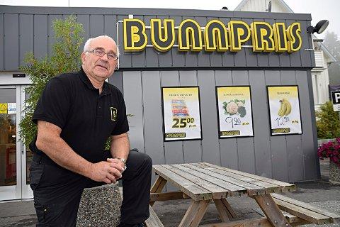 Bunnpris Skjønhaug: Over 10,2 millioner kroner fikk Jan Gundersen i Gunders Eiendom as for sin sentrale Skjønhaug-eindom. Han har selv planer om å fortsette å jobbe på Bunnpris: Arkivfoto