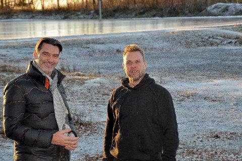 Folkeparken:Ildsjelene  Øyvind Bakke og Morten Hødal (t.h) i Folkeparkens venner er nå på jakt etter ni  lokale millioner, som de antar det vil koste å sette opp et nytt Parklokale i Folkeparken.