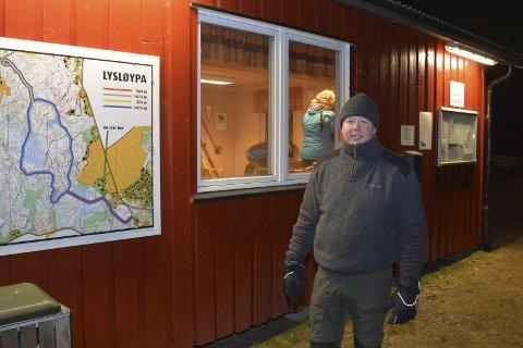NY HYTTE: Skihytta til Trømborg IL er moden for utskiftning, opplyser Arnfinn Kopperud.