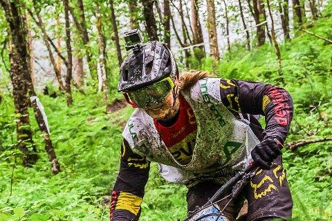 Mountainbike, MTB: Ekstremsportveko: Brage Vestavik (17) under konkurransen Horgi Ned.
