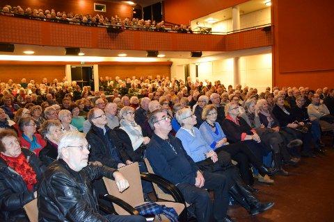 STINN BRAKKE: Oppslutningen om Bjørn Hansens Trump-foredrag i Askim kulturhus mandag anslo leder Tore Aschim til å være ny publikumsrekord for Seniorakademiet.