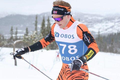 ÅTTENDEPLASS: Espen Udjus Frorud slo til med et knallsterkt renn og sikret seg åttendeplass i skandinavisk cup.