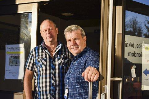 FAGMILJØ: Virksomhetsleder Hans P. Vammeli og teknisk sjef Lars Flaathen mener fagmiljøet styrkes.