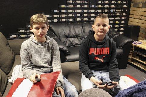 Er der ofte: Nurali Shoipov (13) og Cezary Srodeci er ofte på UKH Eidsberg.