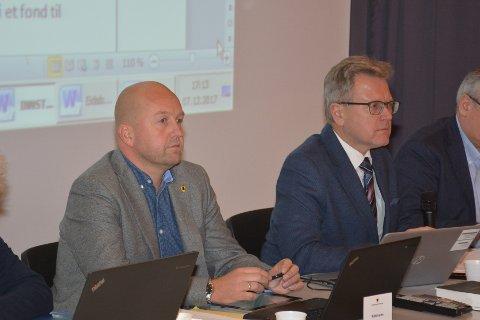 Rådmann Tom Arne Tørfoss og ordfører Erik Unaas-