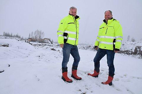 LANGSIKTIG: Mossingene Hans-Jørgen Herje og Hans Deunk tenker gjerne flere tiår frem i tid når de utvikler Holtskogen. ARKIVFOTO