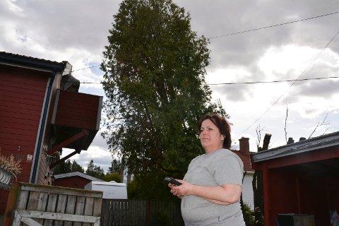 Linda Enger er fortvilet. Gang på gang har hun kontaktet Telenor. Nå har hun avlyst påskeferien fordi hun frykter at treet ramler over både balkong og ledninger.