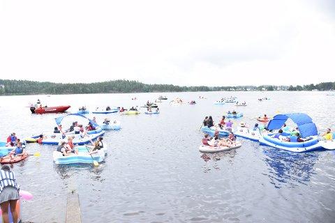 Politiet hadde mye å gjøre under lørdagens gummibåtfestival i Ørje.