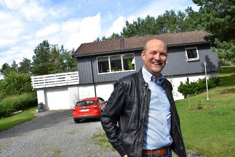Barndomshjemmet. I dette huset i villastrøket på Skjonhaug, har Ole André Myhrvold vokst opp.