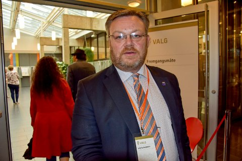 Valgesultatet: Thor Hals som leder valgstyret i Askim hadde i kveld ikke fått informasjon om at Frp-lister manget.