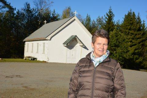Er kirkeverge: Anne-Grethe Larsen er kirkeverge i Eidsberg, men vil bli kirkverge i Indre Østfold kommune.