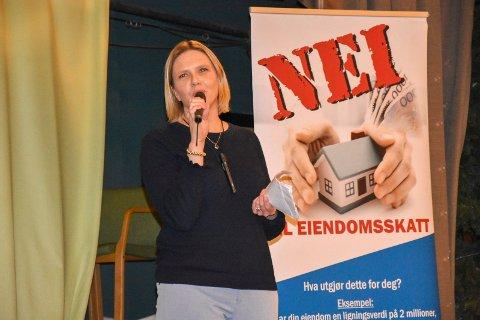 Politisk stjerne: Mange hadde møtt opp for å høre  Sylvi Listhaug sitt foredrag på Folkets Hus i Askim.