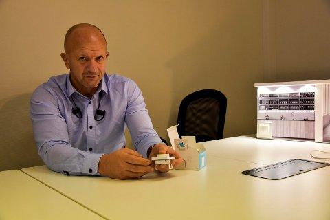 Etablerer seg i Norge: Magne Åkvåg i det svenske firmaet Plejd AB etaberer seg i Norge, men kontor i Askim.